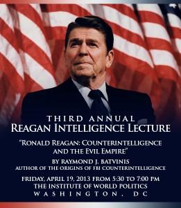 Ronald Reagan Intelligence Lecture, Institute of World Politics