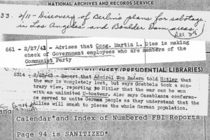 Index of FBI Reports sent to White House, 1939-1945